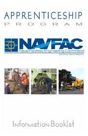 navfac sw appreticeship program informational booklet by robert