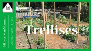 Vertical Gardening by Vertical Gardening How To Build Trellises Youtube