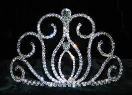 rodeo crowns swan silver plated hat crown rhinestone tiara