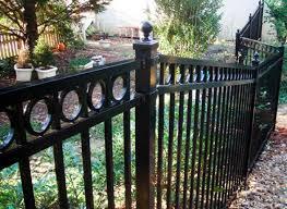black iron fence american gardener