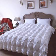 Queen Down Comforter True 95 Goose Down Comforter For Autumn Winter Cotton Polyester