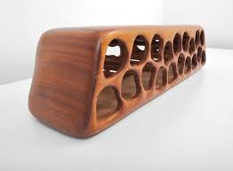 gorgeous mid century walnut wine rack american for sale at 1stdibs
