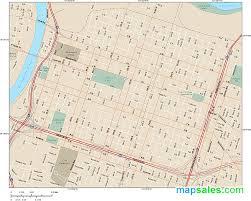 Sacramento Light Rail Map Sacramento Downtown Wall Map By Map Resources