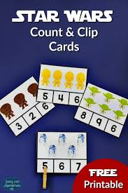 wars cards wars count and clip cards