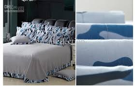 Mens Bed Set Newest Blue Camouflage Cool Bedding Sets Size For Boys