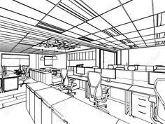 one perspective drawing for interior of an house google search