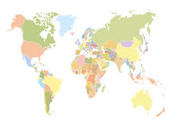 outline of world map geo map world