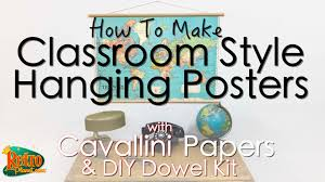 cavallini planner how to make classroom style hanging posters with cavallini papers