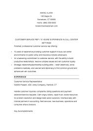 Customer Representative Resume Customer Service Resume Template Download Free U0026 Premium