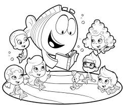 bubble guppies coloring free download