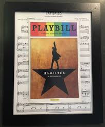 diy playbill display using a 5 ikea frame and a piece of printed
