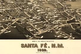 Santa Fe Map Antique Bird U0027s Eye View Map Santa Fe New Mexico 1882