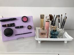 Makeup Vanity Tray Diy Makeup Storage And Vanity Tray