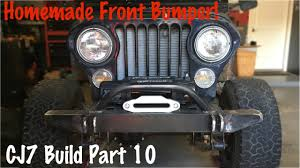 jeep winch bumper front offroad bumper and winch plate jeep cj7 build part 10