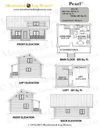 small log home plans with loft pearl log cabin meadowlark log homes