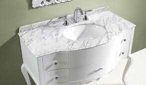 avola 47 inch bathroom vanity white finish solid oak wood