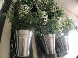Wall Planters Indoor by Vertical Indoor Wall Planter With Galvanized Steel Pots The