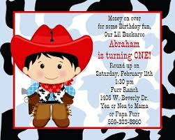 cowgirl and cowboy themed birthday party invitations