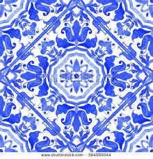 portuguese azulejo tiles blue white gorgeous stock illustration