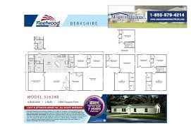 4 Bedroom 2 Bath Mobile Homes Fleetwood Berkshire 32624b 4 Bed 2 Bath Mobile Home For Sale