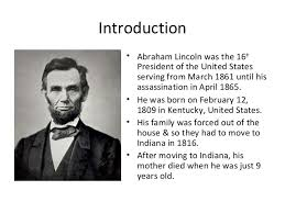 biography of abraham lincoln download abraham lincoln short presentation