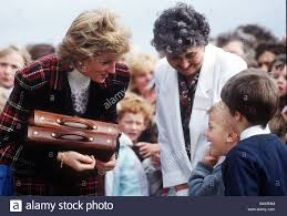 princess diana during a visit to prestwick in november 1989 to