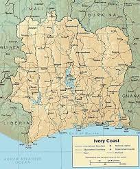 Ivory Coast Map Untitled Document