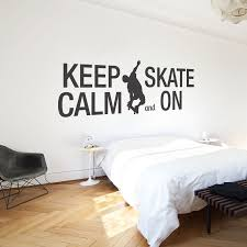 wall decal quotes keep calm and skate on quote sticker home