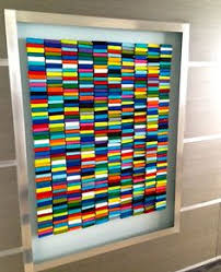 painted wood artwork painted wood wall sculpture installation custom installation