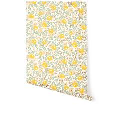 Rifle Paper Company Wallpaper Rosa Yellow Wallpaper Roll Hygge And West Rifle Paper Co