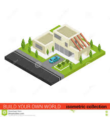 design your own home 3d free download flat 3d isometric family house car parking building infographics