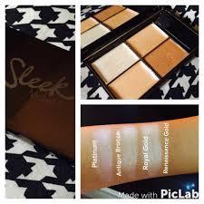 a sleek makeup review precious metals highlighting palette