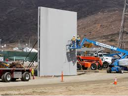 Construction is underway on prototypes of Trump s border wall