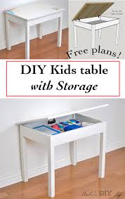 Diy Wooden Toy Box With Lid by Build An Easy Diy Kids Table With Storage Anika U0027s Diy Life