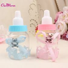baby shower bottle favors 50pcs lot baby bottle candy box party supplies baby feeding bottle
