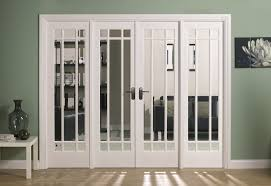 Interior Partitions White Stained Wooden Frame Folding Door For Wall Partition With