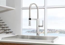 pro kitchen faucet blanco 441331 culina semi pro kitchen faucet chrome pertaining to
