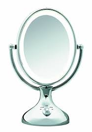 conair lighted vanity mirror amazon com conair be18lcx double sided lighted makeup mirror