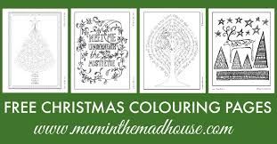 free christmas colouring pages adults teens mum