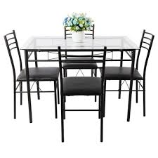 Glass Top Dining Table Set by Dining Tables Dining Table And Chairs Transitional Small Glass
