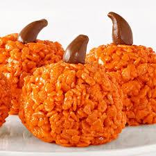 rice crispy treat pumpkins crispy pumpkin treats family circle