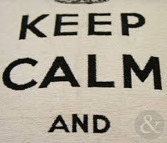 Blue Union Jack Cushion Keep Calm U0026 Union Jack Cotton Chenille Cushion Cover U2013 18x18