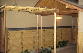 furniture outdoor beautiful bamboo patio with half wall fencing