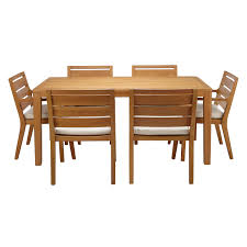 eucalyptus wood dining table john lewis alta 6 seat garden dining table chairs set fsc
