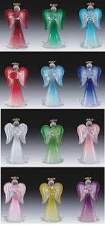 birthstone ornaments birthstone angel figurines 3 95 glass angel suncatchers