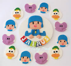 pocoyo cake toppers pocoyo cake and edible cupcake decorations sweet party treats