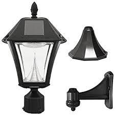 outdoor light pole mount amazon com gama sonic baytown ii solar outdoor led light fixture