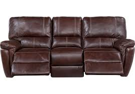 Power Reclining Leather Sofa Picture Of Browning Bluff Brown Leather Power Reclining Sofa From