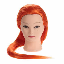 style 27 inch colorful hair mannequin head hairdresser with hair
