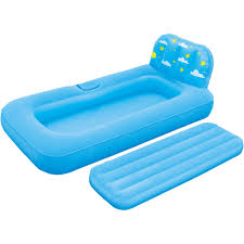 out u0026 about all my inflatable bed u0026 projector blue